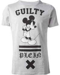 Philipp Plein Embellished Mickey Mouse T-Shirt - Lyst