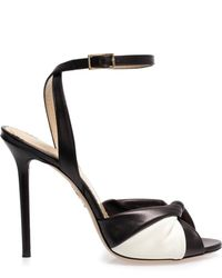 Charlotte Olympia Do The Twist Leather Sandals - Lyst