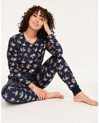 ada43baa082c Chelsea Peers Sparkle Star Print Pyjama Set in Blue - Lyst