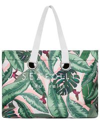 Seafolly - Carried Away Palm Beach Eyelet Tote - Lyst