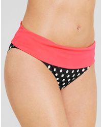 Figleaves - Tuscany Spot Fold Bikini Brief - Lyst