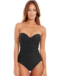 Miraclesuit - Rock Solid Madrid Underwired Firm Control Bandeau Swimsuit - Lyst