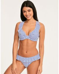 08746c5535105 Freya - Totally Stripe Underwired High Apex Bikini Top - Lyst