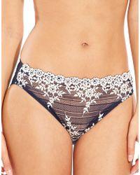 32505b5358bb0 Wacoal Embrace Lace Bikini in Gray - Lyst
