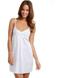 Bodas - Cotton Nightwear Short Chemise - Lyst