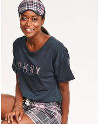 DKNY - Hello Fall Top, Boxer & Eyemask Set - Lyst