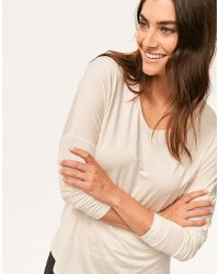 Calvin Klein - Modal Coord L/s V-neck Top - Lyst
