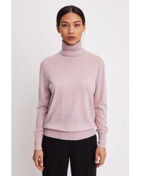 Filippa K - Silk Mix Roller Neck Sweater - Lyst