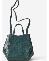 Filippa K - Shelby Mini Bucket Leather Bag Emerald Croco - Lyst 0a0fdec98d
