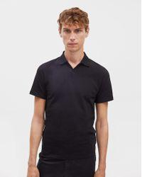 Filippa K - Soft Lycra Polo T-shirt Black - Lyst