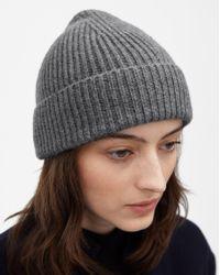Filippa K - Cashmere Hat Grey Melange - Lyst