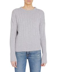 8c47c8819bd9 Lyst - Loro Piana Baby Cashmere V-neck Sweater in Blue