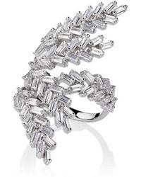 Fallon - Monarch Deco Fern Ring - Lyst