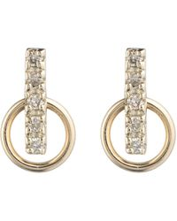 Hirotaka - Deco Diamond Small Hoop Earrings - Lyst
