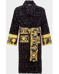 Versace - Barocco Printed Bathrobe By - Lyst