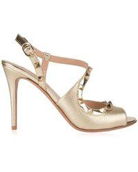 Valentino - Rockstud Heeled Sandals - Lyst
