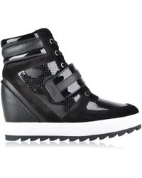 Armani Jeans - Wedge High Top Trainers - Lyst