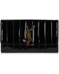 Saint Laurent - Vicky Small Patent Wallet - Lyst