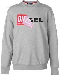 DIESEL - Peel Logo Jumper - Lyst
