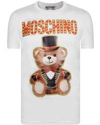 93adb2cc Moschino Teddy Bear Polo Shirt in White for Men - Lyst