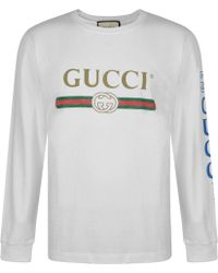 06858409569 Gucci Logo T-shirt With Dragon in Red for Men - Lyst