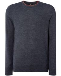 PS by Paul Smith - Paul Neck Detail Knitted Jumper Mens - Lyst