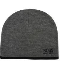BOSS Athleisure - Logo Beanie - Lyst