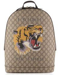 Gucci Tiger Gg Supreme Backpack