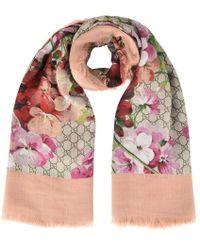 Gucci Floral Gg Scarf - Multicolour