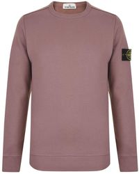 Stone Island - Badge Sleeve Sweatshirt - Lyst