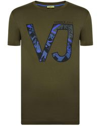 Versace Jeans - Logo Camouflage T Shirt - Lyst