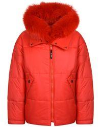 Yves Salomon - Fur Swing Puffa Jacket - Lyst