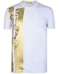 Versace Jeans - Foil Stripe Crew T Shirt - Lyst
