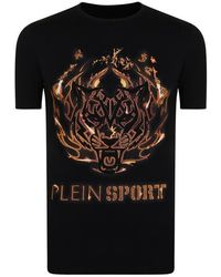 Philipp Plein - Tiger Logo Short Sleeve T Shirt - Lyst