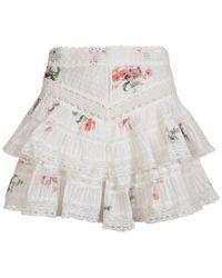 Zimmermann - Floral Print Lace Shorts - Lyst
