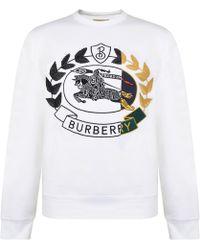 Burberry - Crest Logo Sweatshirt - Lyst