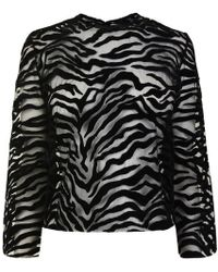 Ashley Williams - Flock Sheer Top - Lyst