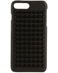 Christian Louboutin - Loubiphone Leather Iphone 7+ And 8+ Case - Lyst