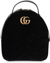 a5fc9355305f Gucci - Velvet Marmont Backpack - Lyst