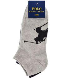 Polo Ralph Lauren - Three Pack Logo Ankle Socks - Lyst