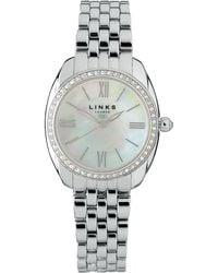 Links of London - Bloomsbury Womens Stainless Steel And Crystal Bracelet Watch - Lyst