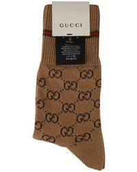 Gucci - Gg Logo Socks - Lyst