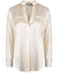 Vince - Collar Band Popover Blouse - Lyst