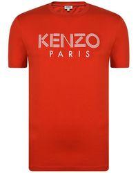 KENZO - Printed Cotton T-shirt - Lyst