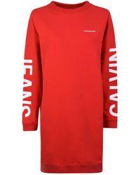 Calvin Klein - Logo Sweatshirt Dress - Lyst