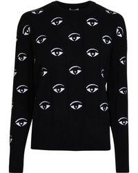 KENZO - Embroidered Eye Jumper - Lyst