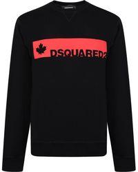 DSquared² - Long Sleeved Logo Sweatshirt - Lyst