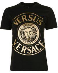 Versus - Foil Logo T Shirt - Lyst