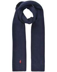 Polo Ralph Lauren - Ribbed Logo Scarf - Lyst