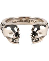 Alexander McQueen - Twin Skull Ring - Lyst